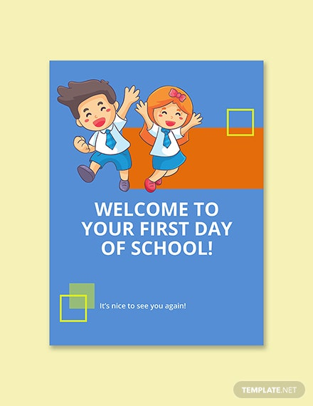 First Day of School Sign Template Printable