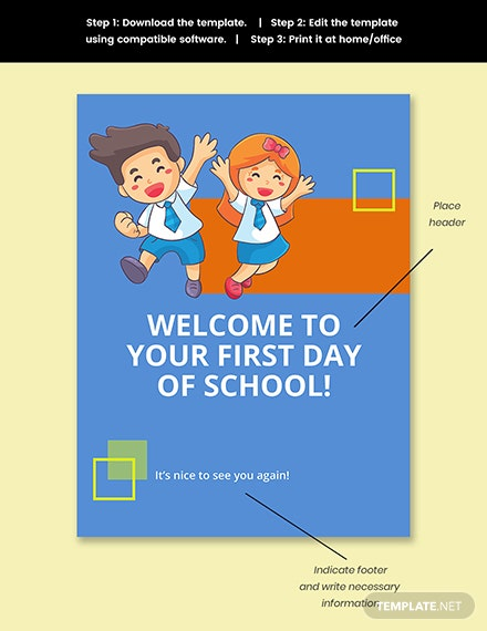 First Day of School Sign Template Snippet