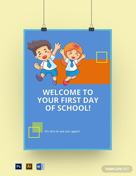 First Day of School Sign Template