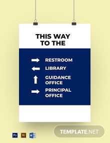 School Way Finding Sign Template