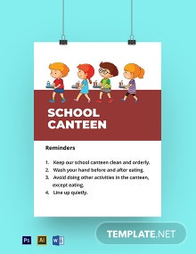 School Canteen Signage Template