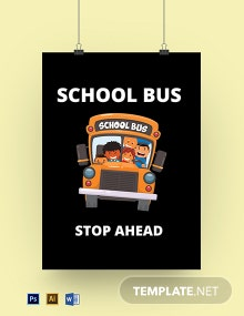 School Bus Sign Template