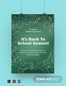 Back to School Sign Template