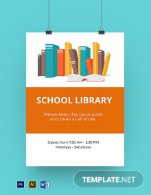 School Library Sign Template