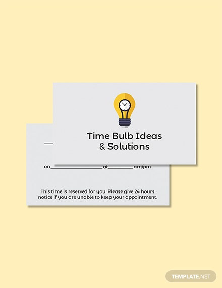 Free Blank Appointment Card Template