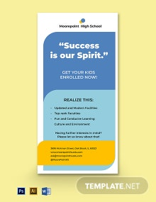 Back To School Rack Card Template