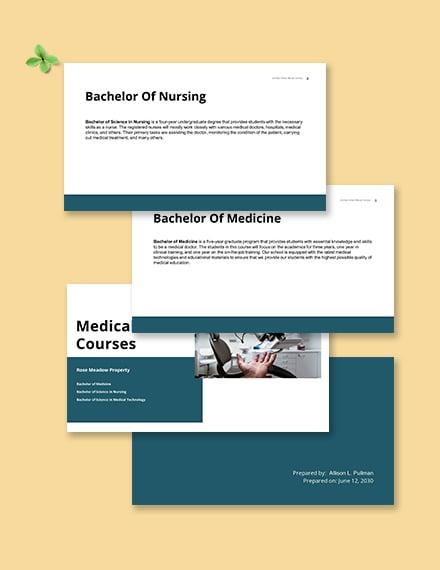 Medical School Presentation Template Printable