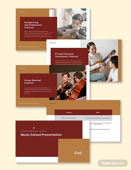 Music School Presentation Template sample