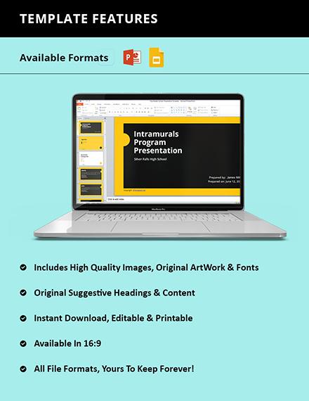 Free Modern School Presentation Template Format