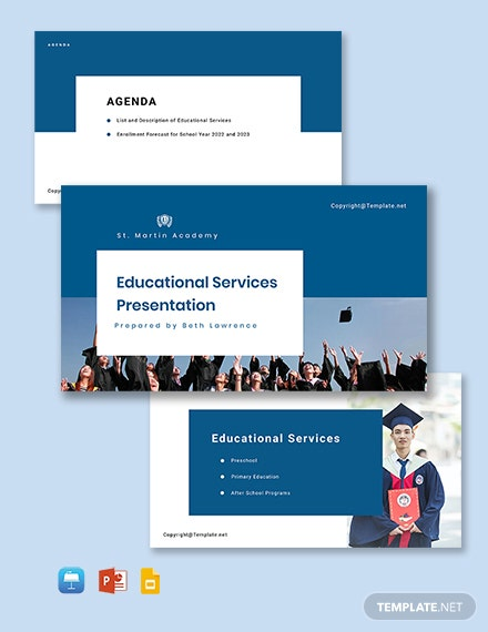 Free School Presentation Template