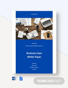 Business Case White Paper Template