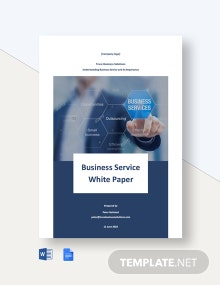 Editable Business Service White Paper Template