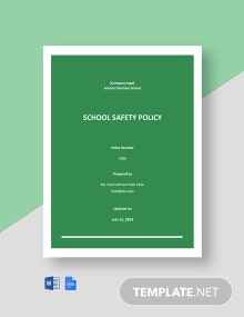 School Safety Policy Template