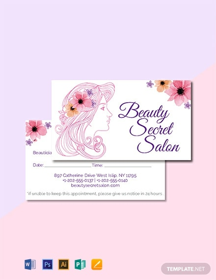 10  free appointment card templates  download ready