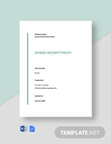 School Security Policy Template