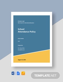 School Attendance Policy Template