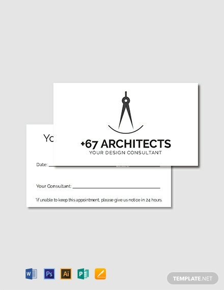 Free Simple Appointment Card Template
