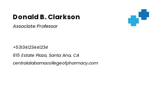 Pharmacy School Business Card Template 1.jpe