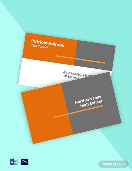 Education School Business Card Template
