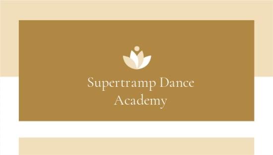 Dance School Business Card Template.jpe
