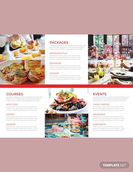 free catering brochure template download 151 brochures in psd
