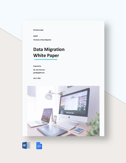 Data Migration White Paper Template