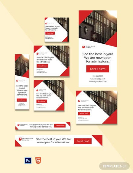 University Banner Ad Template