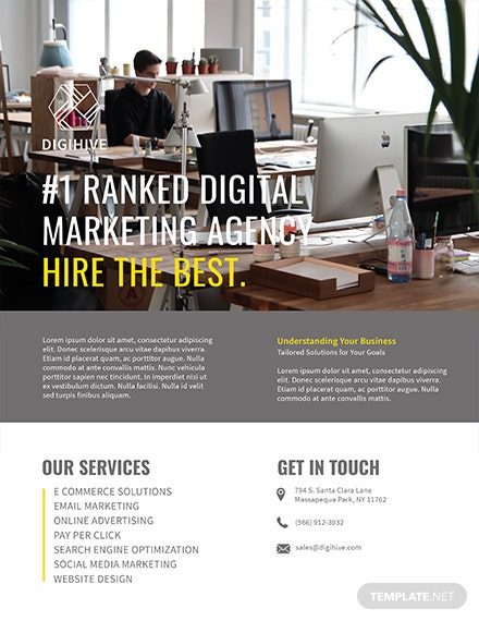 Free Digital Marketing Flyer Template