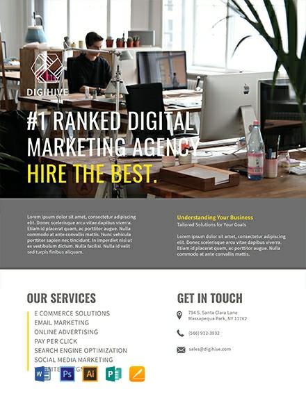 Free Digital Marketing Flyer Template