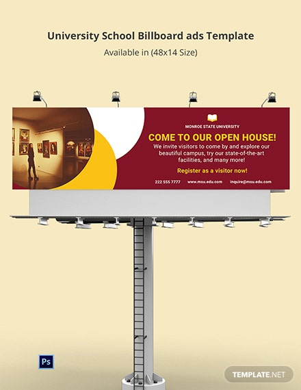 University School Billboard Ads Template