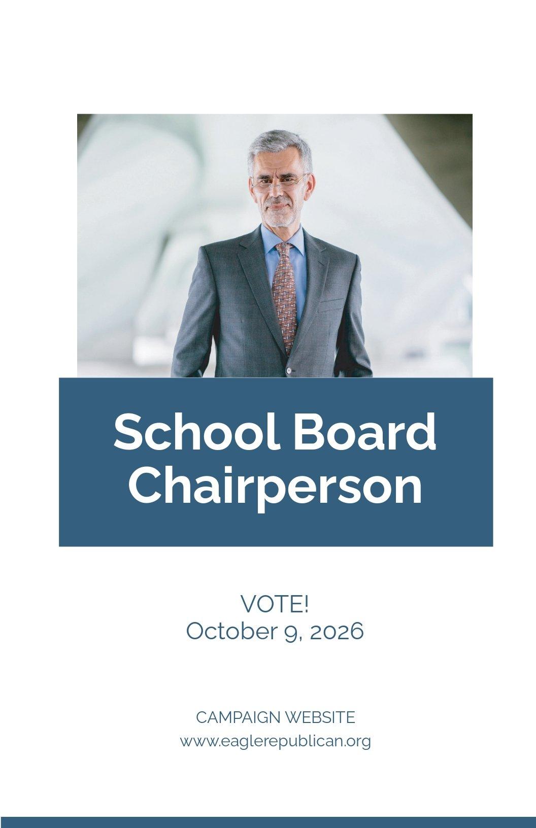 School Board Campaign Poster Template.jpe