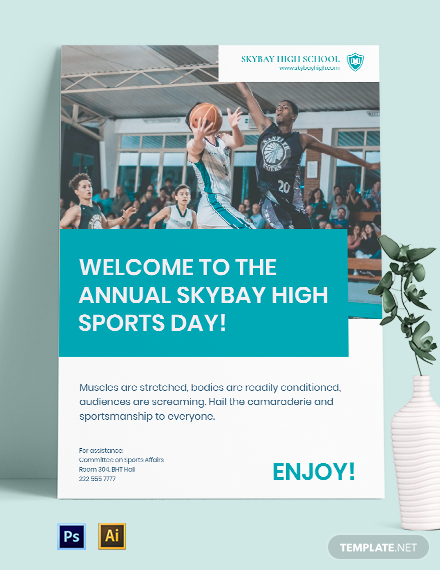 School Sports Day Poster Template