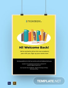 Back To School Sign Up Poster Template
