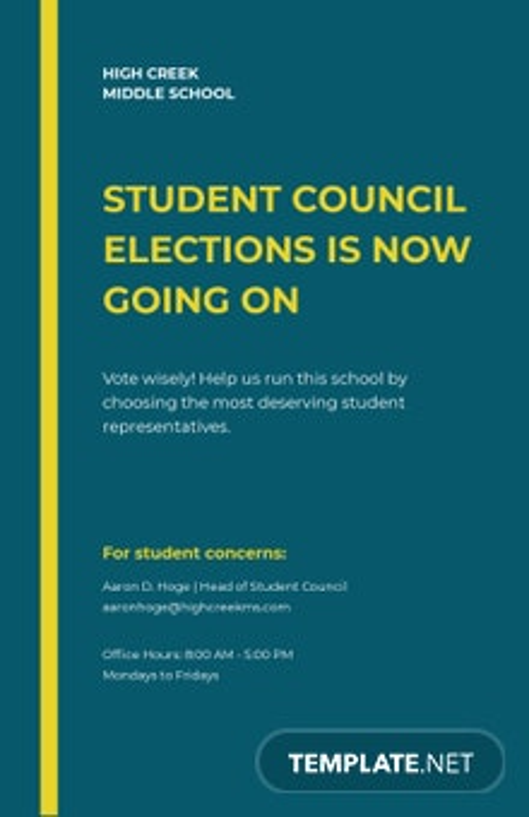 Free Elegant School Poster Template