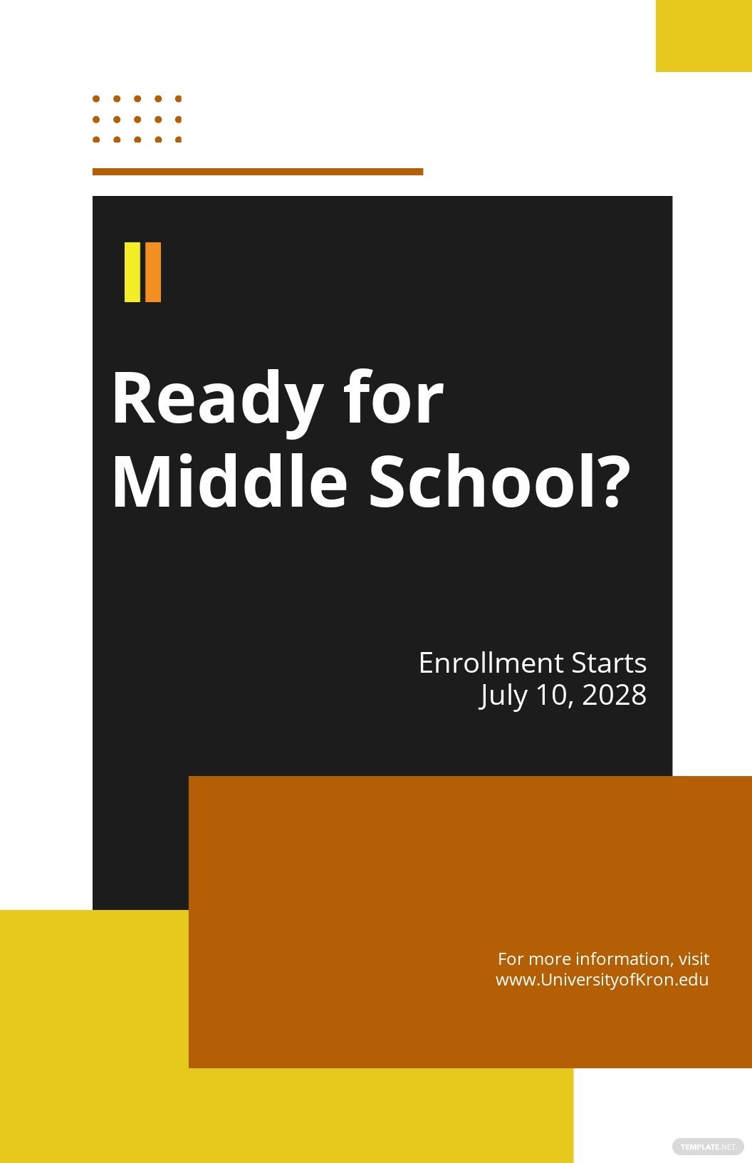 Free Creative Middle School Poster Template.jpe