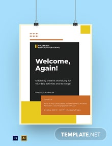 Free Creative Middle School Poster Template