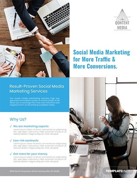 social media marketing flyer template 1x