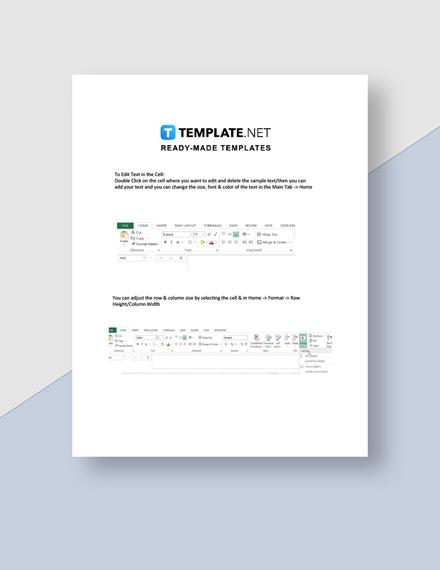 Student Detention SignIn Sheet Instructions