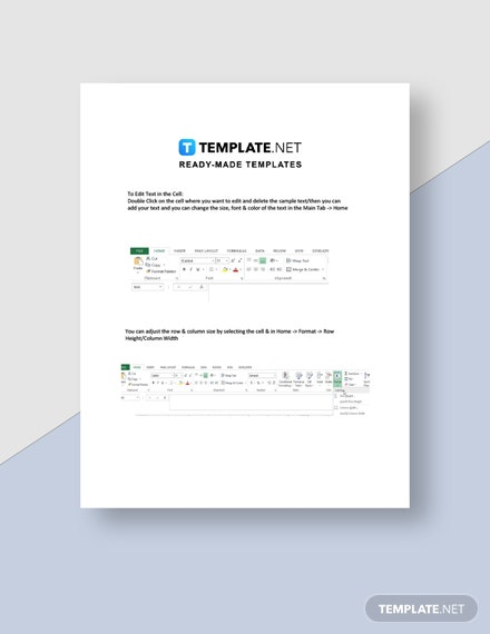 Parent Signin Sheet Instructions