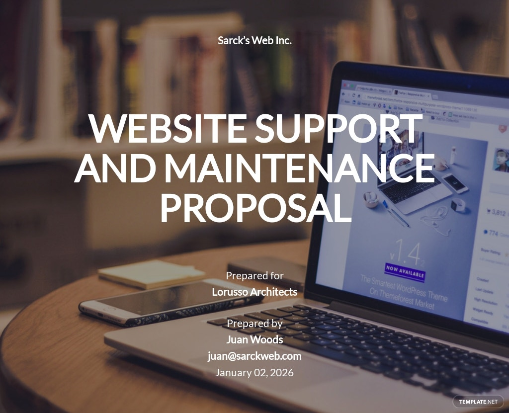 Website Support and Maintenance Proposal Template