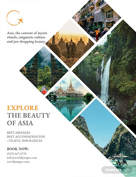 travel company flyer template 1x