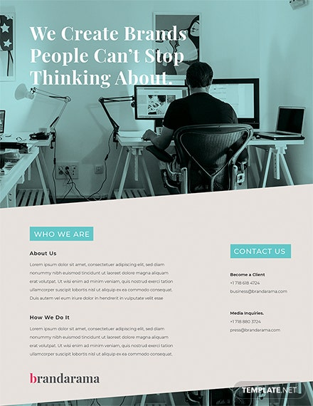 Free Creative Marketing Flyer Template
