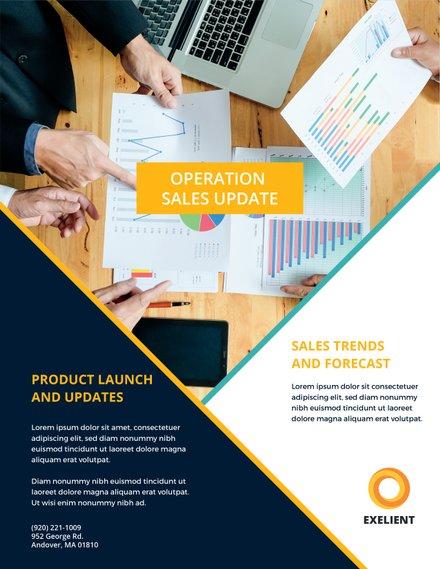 Sales Market Flyer Template