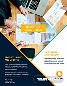 Sales Market Flyer Template