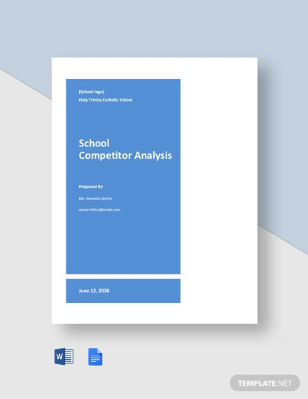 School Competitor Analysis Template