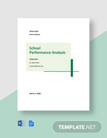 School Performance Analysis Template