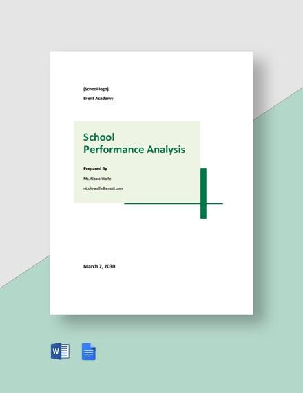 School Performance Analysis Template
