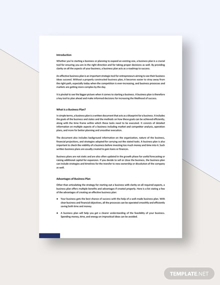 Business Plan White Paper Template