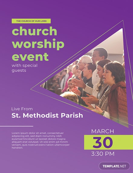 Free Church Event Poster Template