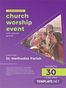 Church Event Poster Template